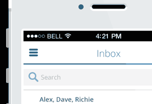 Email app interface preview400