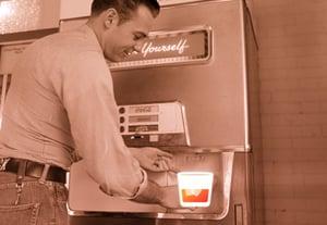 Bourbon coke sepia machine