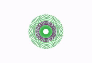 Spirograph completed designs