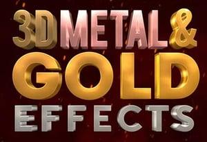 Metallic textpre