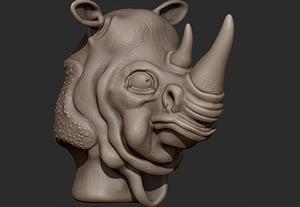Zbrush creature modeling part 3 retina