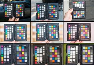 Using colorchecker