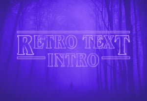 Retro text intro