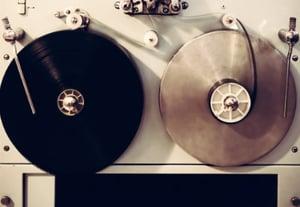 Antique recording machine with film tapes pcrpd6p
