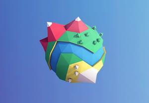 Lowpoly planet thumbnail