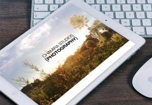Tablet portfolio preview