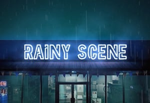 Create a rain scene with envato elements 400x277px