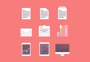 How to create a set of productivity icons small preview