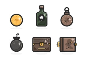 Pirate icon set small preview image