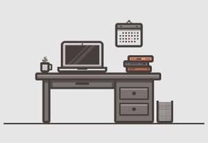 How to create a desk scenary illustration in adobe illustrator small preview