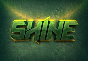 Shiny spring summer text effect