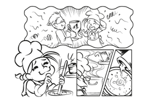 Comic layout preview
