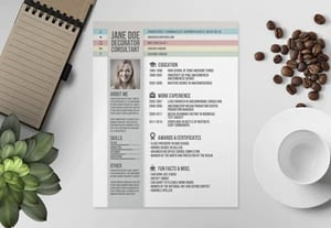 Creative resume cv design preview
