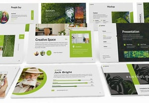 Powerpoint slide templates gogreen ppt preview