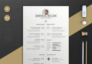 Indesign resume andreas a