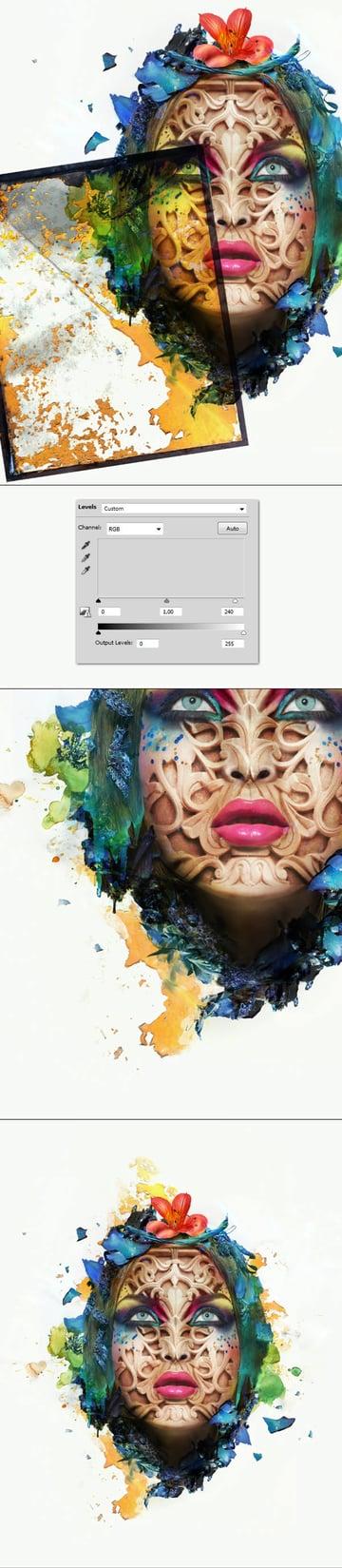 Add overlays around the portrait