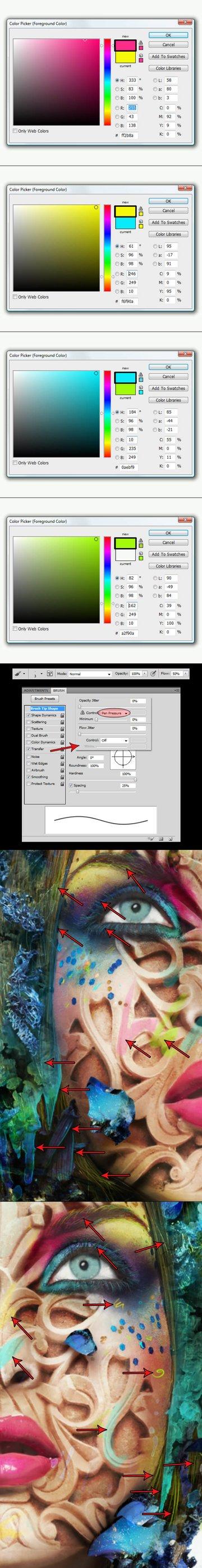 Add small strokes of color