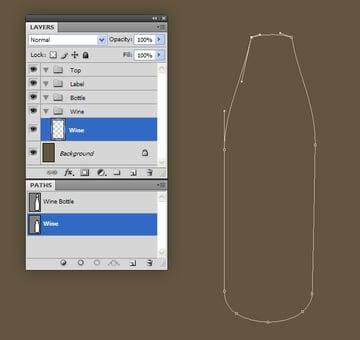 Create the Wine Bottle