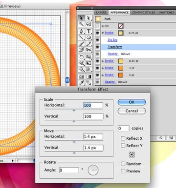 Create the Stitched Border