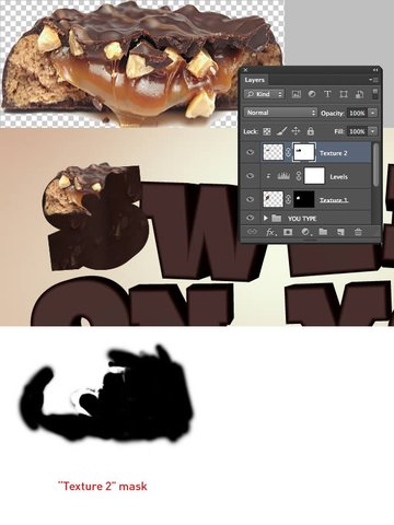 Add Texture to the Letters
