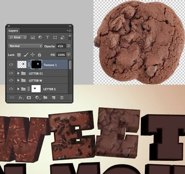 Add Texture to the Letter E