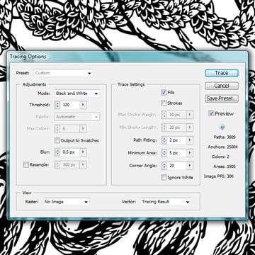 Live Trace in Illustrator