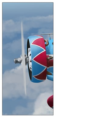 Use a relatively soft brush and without too much attention to detail paint in the forms of the spinning propeller blades
