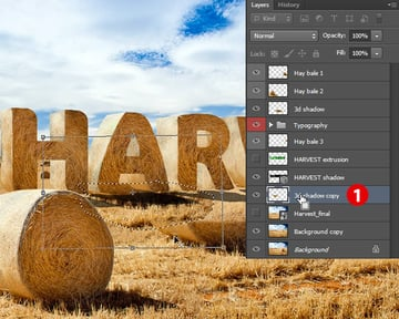 Create Shadow of Letters