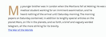 Initial letter demo in Safari OS X