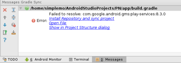 Install Repository and sync project