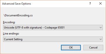 Visual Studio Advanced Save