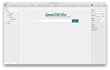 Screenshot of the input component in Sketch