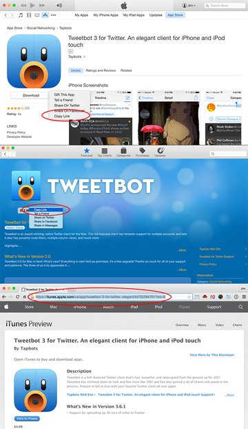 App store links
