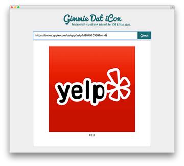 Screenshot of API success for Yelp icon