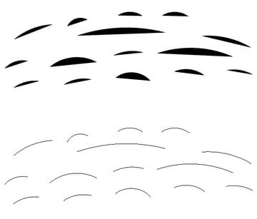pencil strokes