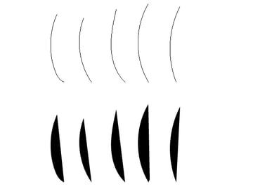 vertical pencil strokes