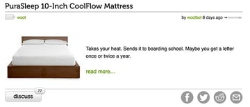 Woot Brand Voice Product Example - Heat