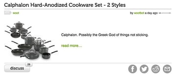 Woot Brand Voice Product Example - Greek Gods