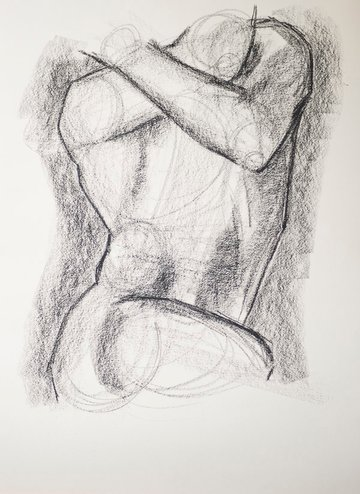 Darkening the shadows of your charcoal sketch