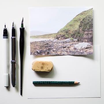 Crosshatch landscape - supplies