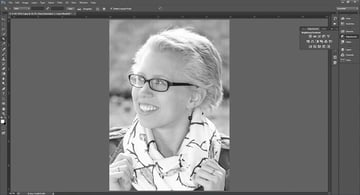 Opening the contrast tool bar