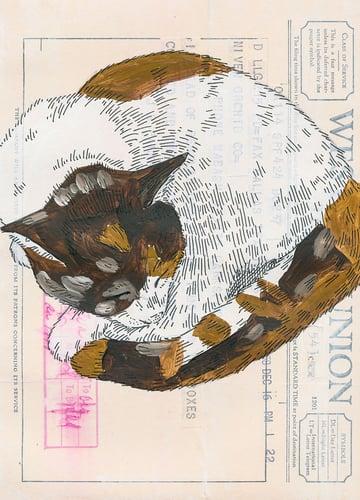 Ephemera Painting - finish inking the image