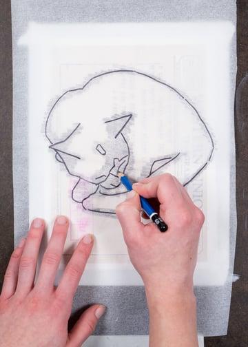 Ephemera Painting - transferring your image