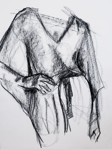 fleshing out your subject with charcoal