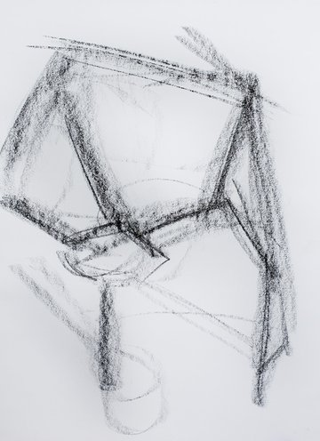 sketching in the bare bones
