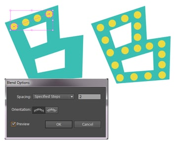 use blend tool for decoration