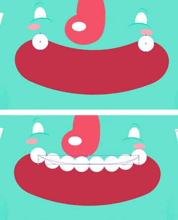 create teeth with Blend Tool W