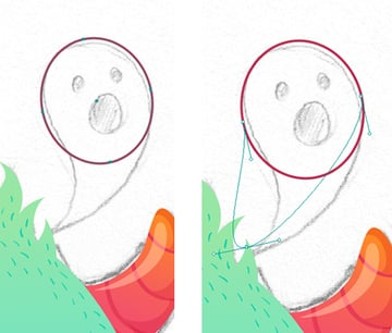 make a ghost from the ellipse 1