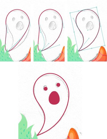 make a ghost from the ellipse 2