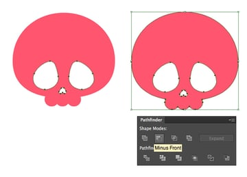create a scull from ellipses and circles 2